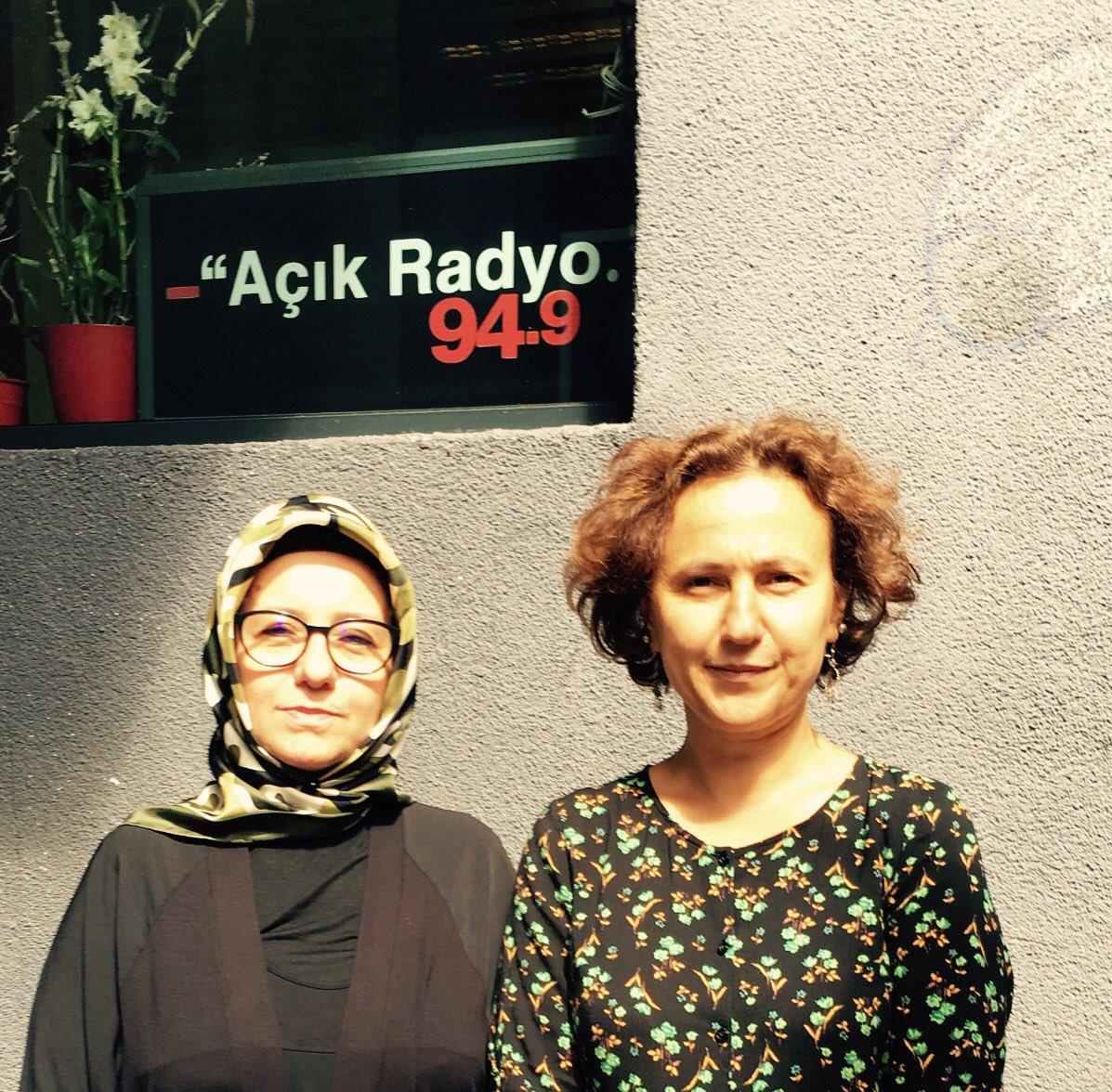 Fatma Barbarosoğlu bugün (10.08.2017) saat 14.00'da  Açık Radyo'da